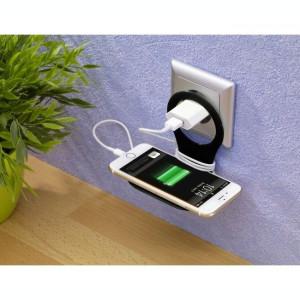 Suport Telefon Incarcare Priza Upzz Negru