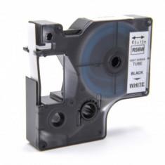 Schrumpfschlauch-kassette ersetzt dymo rs5w 9mm, schwarz auf weiß, ,