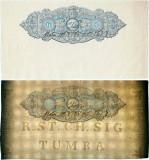 1851 , 6 skilling   skrivnings-charta ( Charta Sigillata ) - Regatul Suediei
