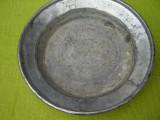 Farfurie veche suedeza din cupru