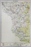HARTA ZONEI ORAVITA , LITOGRAFIE de M.D. MOLDOVEANU , 1936
