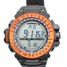 Ceas de mana barbati sport cu sistem digital, negru - MF8339