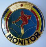 I.008 INSIGNA ROMANIA SCHI MONITOR 40mm