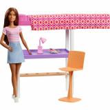Cumpara ieftin Set Barbie, dormitor cu papusa par saten