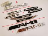 Set 4 Embleme Mercedes AMG la alegere aripi grila portbagaj metal