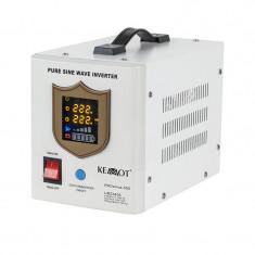UPS cu sinus pur Kemot, 500 W, 12 V, Alb