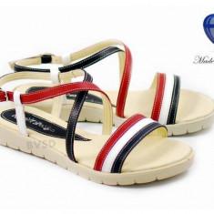 Sandale dama din piele naturala cu platforma joasa - cod ROV24S