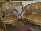 salon/salonas antic/canapea cu fotolii stil baroc/ludovic/mobila veche/de epoca