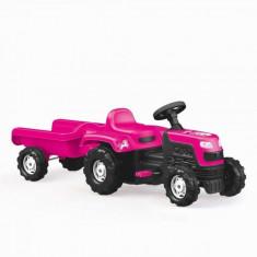 Tractor cu pedale si remorca Roz Dolu