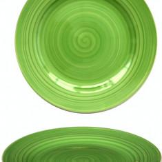 Farfurie ceramica 19cm verde Raki
