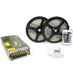 Kit complet 10m band RGB 60SMD 5050/m telecomanda 44 taste ManiaLight