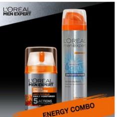 Set cadou Crema de zi L Oreal Paris Men Expert Hydraenergetic 50ml + Gel de ras L Oreal Paris Men Expert Anti-iritatii 200 ml