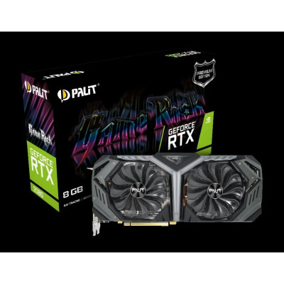 Placa video palit geforce rtx™ 2080 gamerock premium 8g gddr6 256bit boost clock: 1875 mhz foto