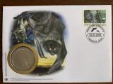 Comore - lilieci - FDC cu medalie, fauna wwf