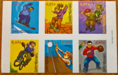 Luxemburg, Sport, copii, carnet adeziv foto