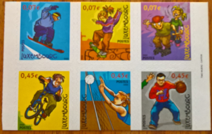 Luxemburg, Sport, copii, carnet adeziv