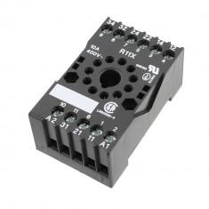 Soclu releu R11X, 11 pini, fixare pe sina DIN, Tele Haase - 655356