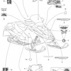 Abtibild 2005 MX Z 600 HO Trail & Adrenaline & X nr.19 Cod Produs: MX_NEW 516002965SK