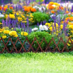 Gard din lemn pt. pat de flori 180 x 30 cm