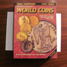 "CY Catalog faimos pentru monede ""WORLD COINS / Krause / Editia 3 / 1701 - 1800"""