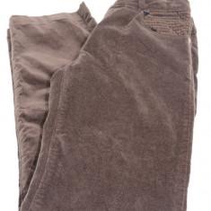 Pantaloni din catifea pentru fete-Wenice AN250909-2, Maro