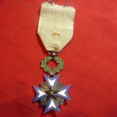 Ordinul Colonial Francez - Steaua Neagra de Benin grad Cavaler , argint