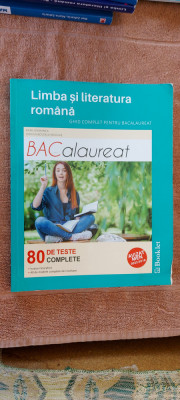 LIMBA SI LITERATURA ROMANA BACALAUREAT 80 DE TESTE COMPLETE GRAMNEA NICOLAE foto