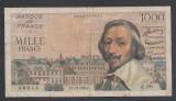 A1216 France Franta 1000 francs 1954 2 12
