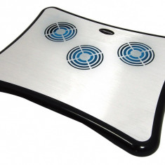 Cooler netbook, 3 ventilatoare, hub USB 4 porturi, Esperanza Breeze