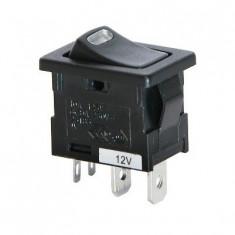 Intrerupator auto Carpoint 12V 10A On/Off cu led rosu , 19,00 x 12,30 mm