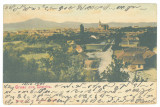 2708 - BISTRITA, Panorama, Litho, Romania - old postcard - used - 1901