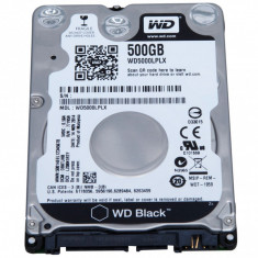 Hard Disk laptop 2.5 inch 500GB 7200 RPM Western Digital Black wd5000lplx