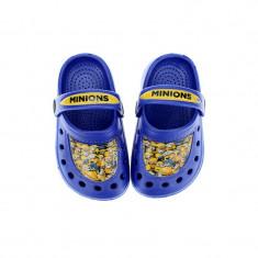 Papuci din cauciuc pentru baieti Minions Setino 870-196A, Albastru