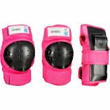 Set 3 Protecţii role Basic Roz, Oxelo