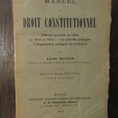 MANUEL DE DROIT CONSTITUTIONNEL-LEON DUGUIT