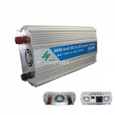 Invertor Auto 12V la 220V 6000W Sinus Modificat Chaomin