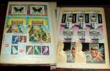 Clasor timbre straine stampilate - contine 62 colite + 13 minicoli + 21 blocuri