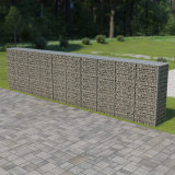 VidaXL Perete gabion cu capace, 600 x 50 x 150 cm, oțel galvanizat