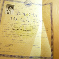 Diploma de Bacalaureat -Liceul 3 Barlad 1970