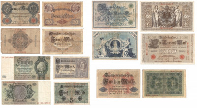 Lot de 7 bancnote -Germania foto