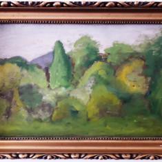 Peisaj nesemnat – pictură veche în ulei