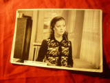 Fotografie Actrita Ana Szeles in filmul Elixirul Tineretii 1976 ,18x12cm ,pliu