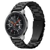 Cumpara ieftin Curea Spigen Modern Fit pentru Samsung Galaxy Watch (46mm) / Gear S3 Classic / Frontier, Otel inoxidabil, Negru