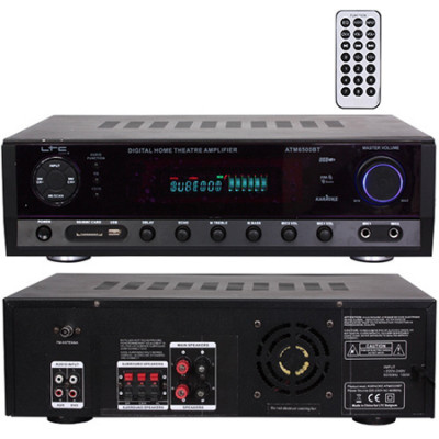 Amplificator polivalent, FM, Bluetooth, USB, AUX, card SD, 2 x 50 W foto