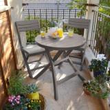 Set mobilier masa cu 2 scaune gradina cappuccino Keter Jazz