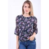 Cumpara ieftin Bluza Florala Object Belina 3/4 Bleumarin, 34, 36, 38, 40
