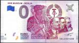 !!! RARR : 0 EURO SOUVENIR - GERMANIA , BERLIN , MUZEUL R.D.G. - 2018.3 - UNC