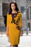 Rochie de ocazie galben-mustar
