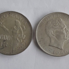 25000 si 100000 Lei 1946 Lot monede argint Romania Regat!