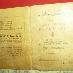 Ghidul Socec - Noul Plan al orasului Bucuresti -anii'20- indice alfabetic strazi